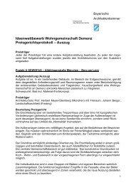Ideenwettbewerb Wohngemeinschaft Demenz Preisgerichtsprotokoll