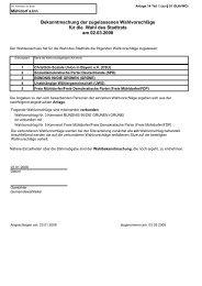Zugelassene Wahlvorschläge Stadtrat - Stadt Mühldorf am Inn