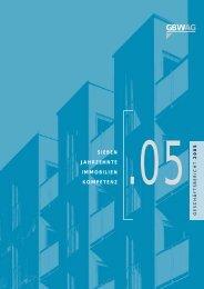 Geschäftsbericht 2005 - GBW Gruppe