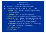 Počítačové sítě Protokoly, architektura • Normalizace ... - eAMOS