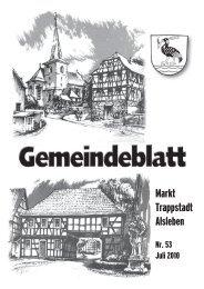 Gemeindeblatt Juli 2010 - Markt Trappstadt