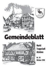 Gemeindeblatt Oktober 2010 - Markt Trappstadt