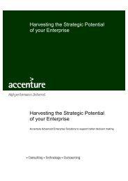 Harvesting the Strategic Potential of your Enterprise Harvesting the ...