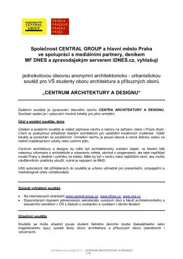 centrum architektury a designu - CENTRAL GROUP a.s.