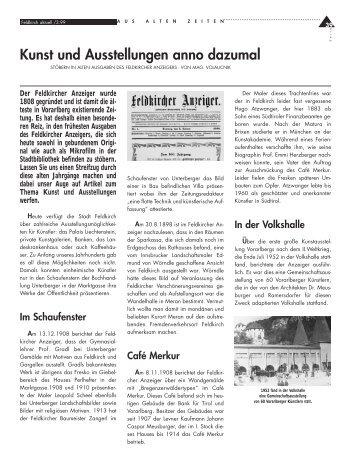 Kunst und Ausstellungen anno dazumal.pdf - in Feldkirch
