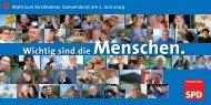 Wichtig sind die Menschen. - SPD Kirchheim/Teck