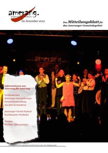 November 2012 - Amerang