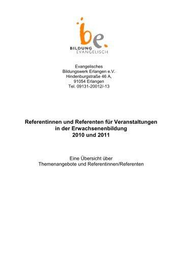 Referentinnen und Referenten für Veranstaltungen - Bildung ...