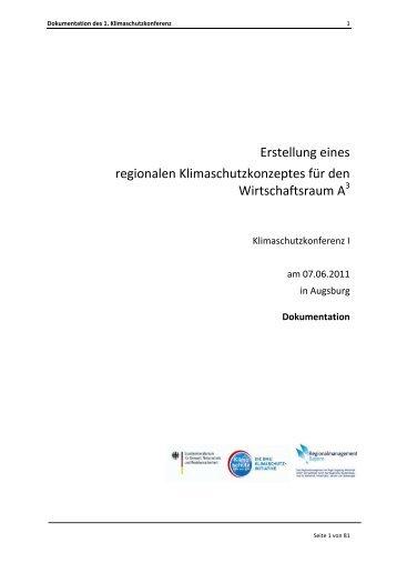 Dokumentation - im Wirtschaftsraum Augsburg.