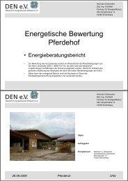 Energetische Bewertung Pferdehof