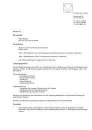 P R O F I L Büroinhaber Milan Madzar Dipl.-Ing. FH Freier Architekt ...