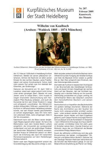 Wilhelm von Kaulbach (Arolsen / Waldeck 1805 – 1874 München)