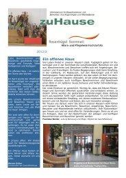 Ein offenes Haus - Alters- und Pflegeheim Hochdorf AG