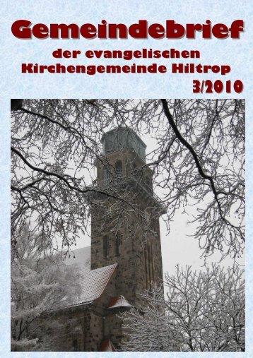 Gemeindebrief 03 2010 - Hiltrop - Kirchenkreis Bochum