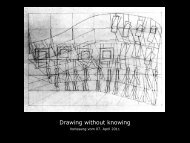 Drawing without knowing