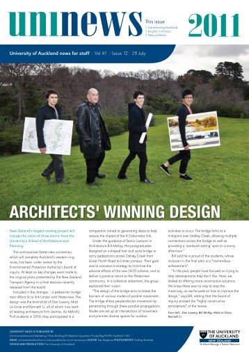 Architects' winning design - The University of Auckland