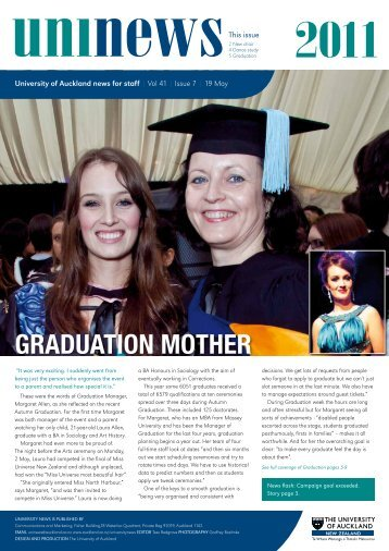Graduation Mother - The University of Auckland
