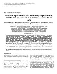 Effect of Nigella sativa and bee honey on pulmonary, hepatic and ...