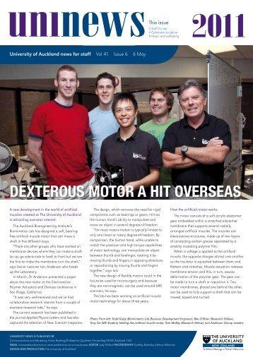 Dexterous motor a hit overseas - The University of Auckland