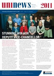 stunning win for Deputy Vice-chancellor - The University of Auckland