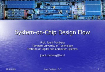 System-on-Chip Design Flow