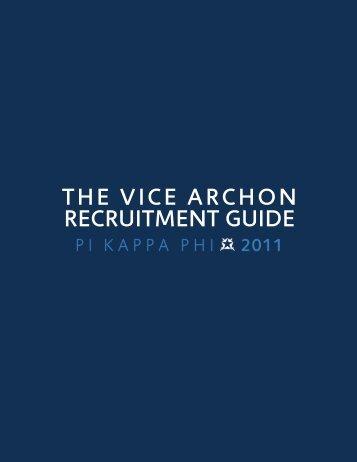 Vice Archon Recruitment Manual - Pi Kappa Phi Fraternity