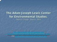 LewisCtrforEnvironmentalStudies.pdf 2655KB Oct 17 ... - BE Courses