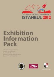 Exhibition Information Pack - Asian Racing Conference Istanbul 2012