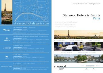 Starwood Hotels & Resorts Paris - Meetings and Events in Paris ...