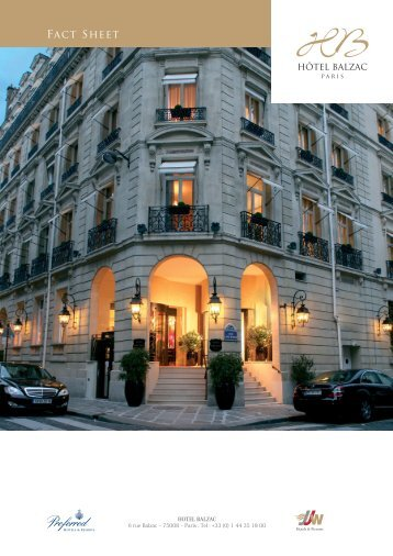 Fact Sheet - Hotel Balzac Paris