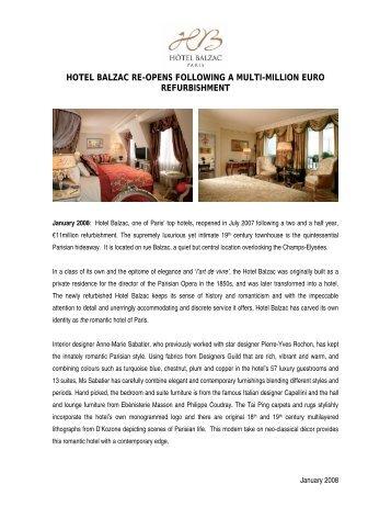 Paris' new luxury hotel - Hotel Balzac Paris