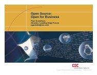 Open Source: Open for Business - SIM - Colorado