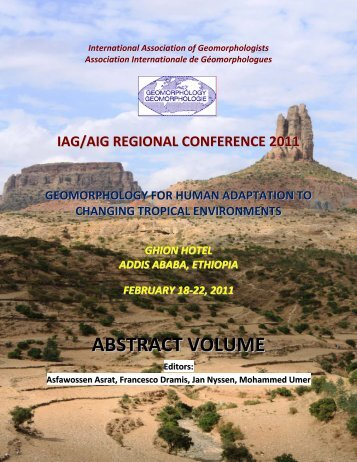ABSTRACT VOLUME - International Association of Geomorphologists