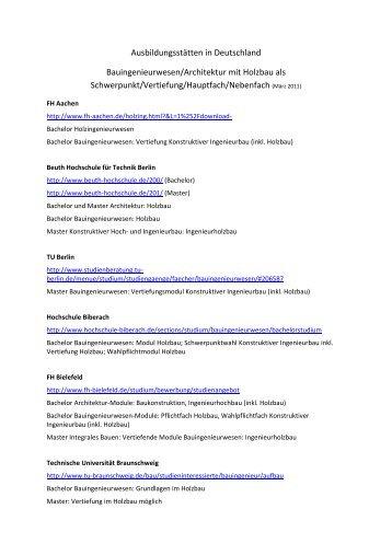 Modulhandbuch der lehreinheit bauingenieurwesen studium for Bauingenieurwesen studium