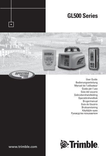 GL400 Se GL500 Series - Laser Grade Company