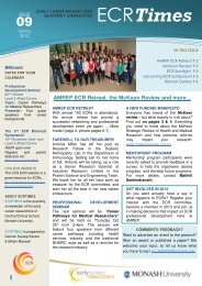 AMREP ECR Retreat, the McKeon Review and more - Faculty of ...