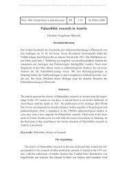 Palaeolithic research in Austria - Österreichische Akademie der ...