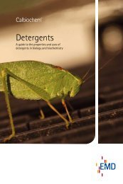 Detergents - The Wolfson Centre for Applied Structural Biology