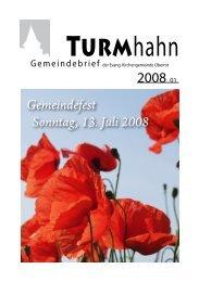 Turmhahn 2008-01 - Evangelischer Kirchenbezirk Gaildorf