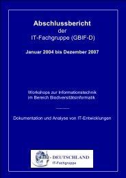 Abschlussbericht - Abteilung Mykologie - Universität Bayreuth