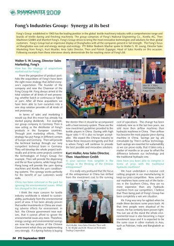Fong's Industries Group: Synergy at its best - Pakistan Textile Journal