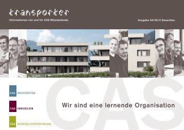 Wir sind eine lernende Organisation - CAS Architekten