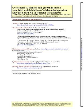 activation of NFAT in follicular keratinocytes associated - Horizonti.net