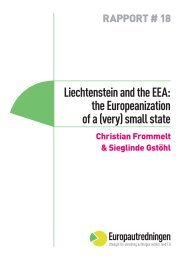 Liechtenstein and the EEA: the Europeanization of a (very) small state