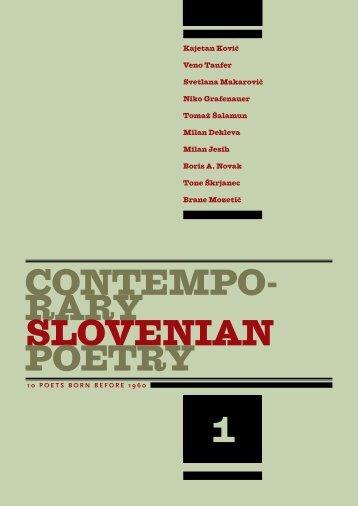 Contempo- rary Slovenian poetry 1 - Ljudmila