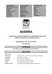 AGENDA - Hobart City Council