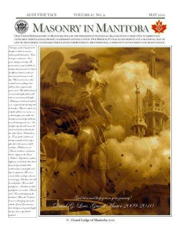 MASONRY IN MANITOBA - Grand Lodge of Manitoba