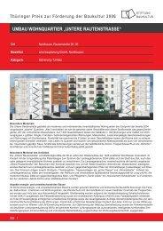 """umbau wohnquartier """"untere rautenstrasse"""" - Stiftung Baukultur ..."""