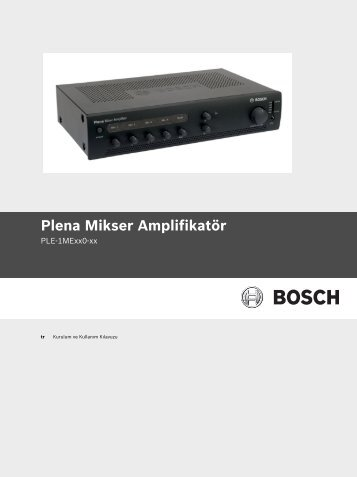 Plena Mikser Amplifikatör - Bosch Security Systems