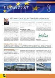 newsletter - Raumordnung und Regionalpolitik